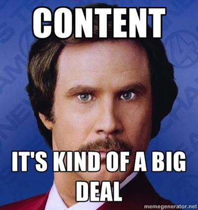 Content is kind of a big deal