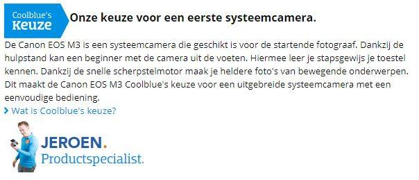 Coolblue - eigen productreview