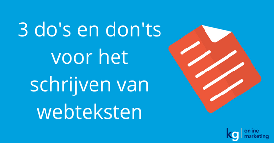 Webteksten do's en don'ts