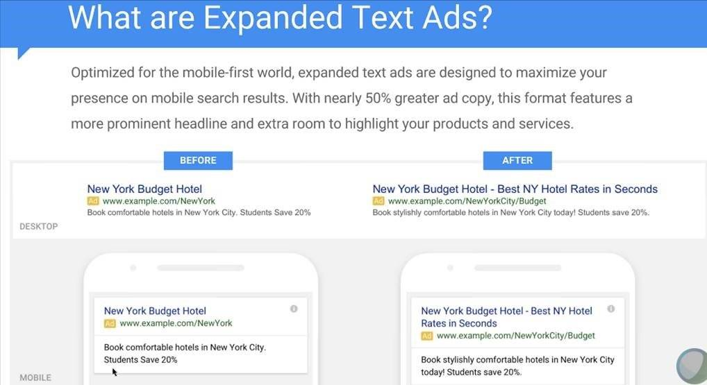wat zijn expanded text ads