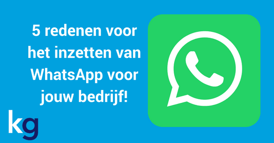 waarom whatsapp inzetten blog header